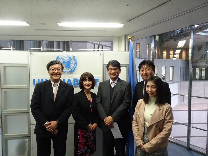 国際連合人間居住計画(ハビタット)福岡本部 訪問