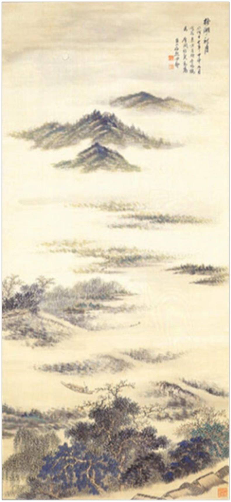 図-13  四季山水図  秋図
