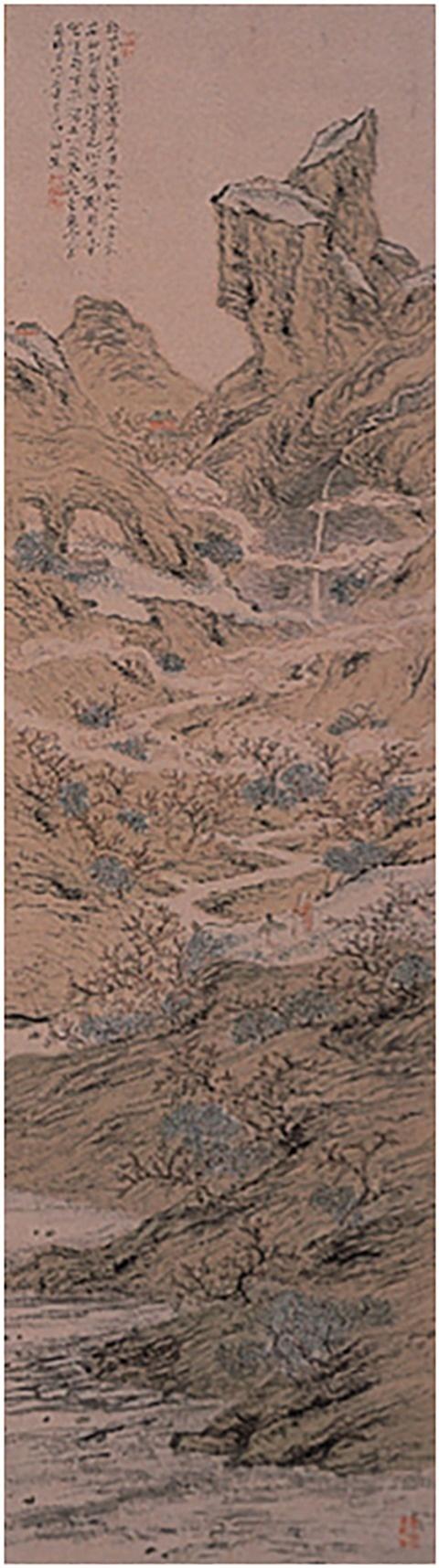 図-7 「桃下流水図」
