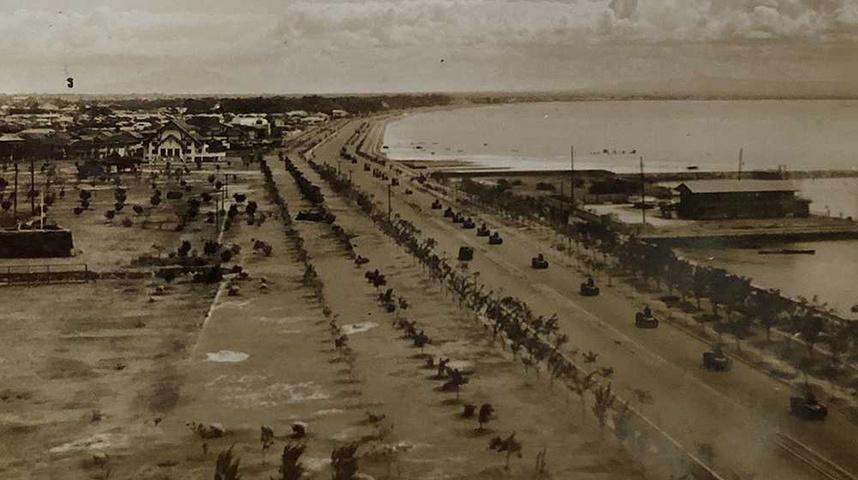 日本軍がマニラに侵攻した際の写真 PHOTO BY SAYO FUKUDA