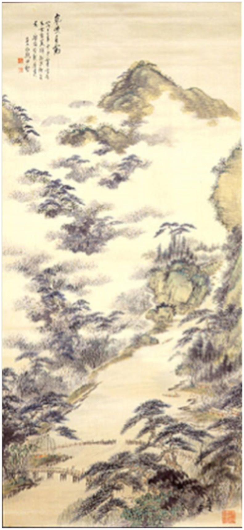 図-12  四季山水図  春図