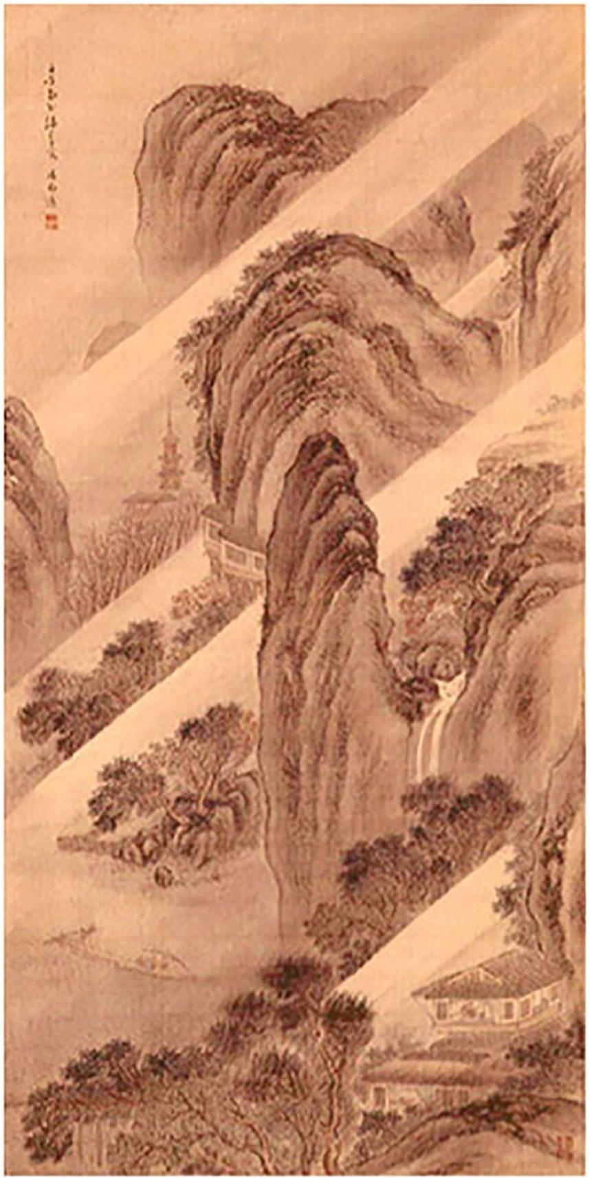 図-10「風雨渡船図」