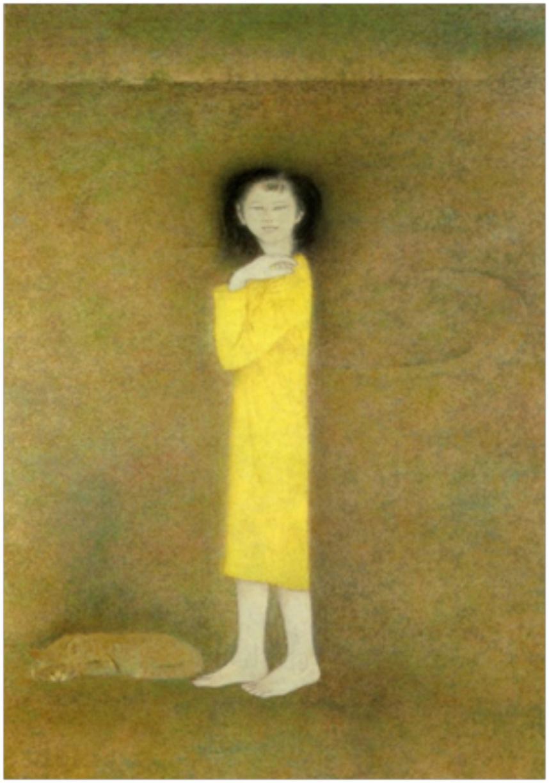 図-21  少女 1979年 第11回改組日展