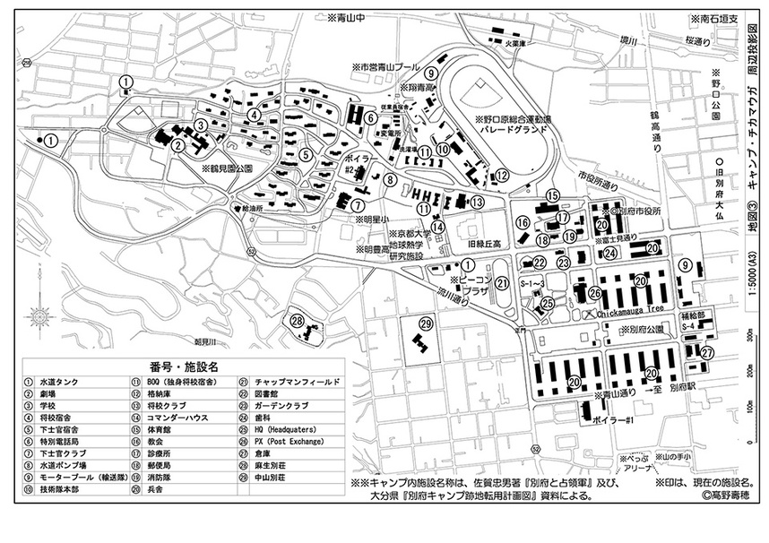 キャンプ・チッカマウガ地図